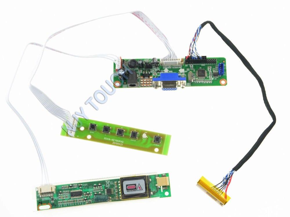 VGA LCD LVDS плата контроллера комплект для LTM200KT10 LTM200KT12 20 дюймов 1600x900 LED Molex 104085-0400 LVDS