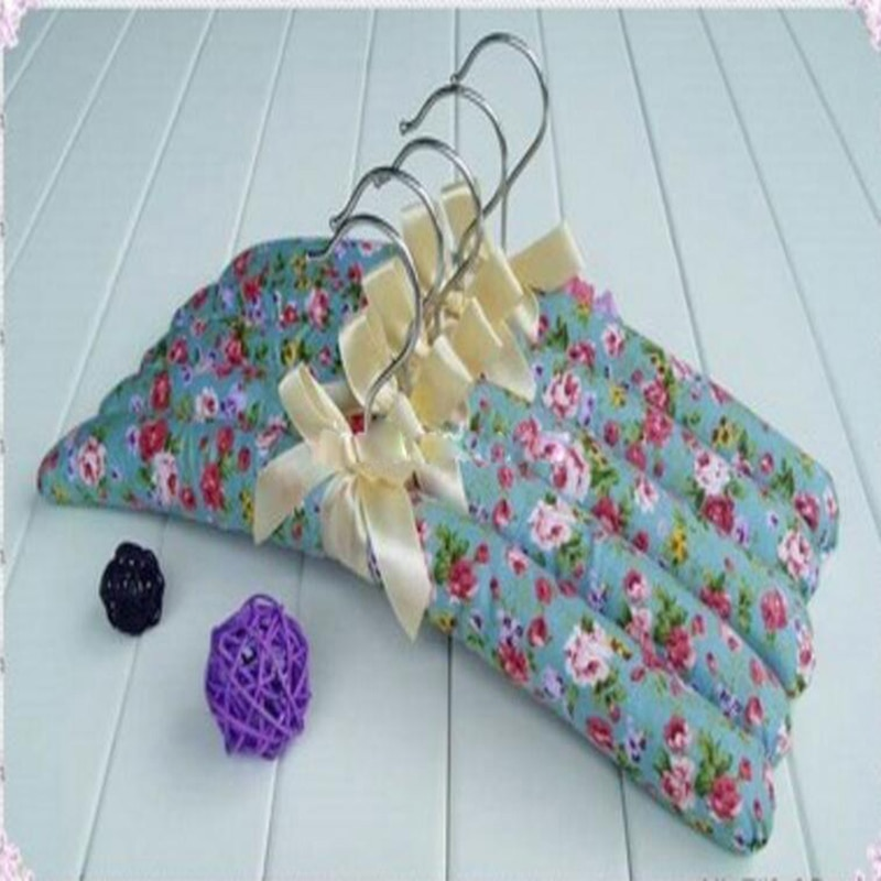 5pcs/lot 39cm Flower cloth  hangers the sponge coat rack skid coat hanger