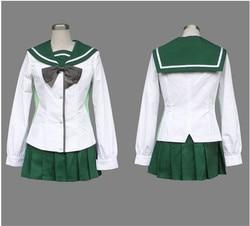 2016 Nova Anime Highschool Of The Dead Busujima Saeko Cosplay Traje Das Meninas Da High School Fujimi Escola Unifrom Traje Cosplay