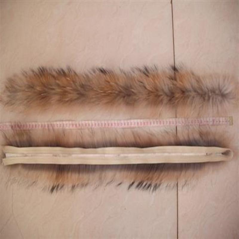 Raccoon dog2019 real raccoon fur collar fur collar jacket cap fox fur hat