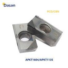 1 pièce APKT1135 APKT1604 PCD CBN Inserts rotatifs CNC diamant tour Cutter fraisage lame outil