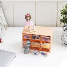 Mini Plastic Jewelry Storage Box Portable Drawer Earring Sorting Organizer Grid Debris Cabinets Lattice Desktop Office Supplies