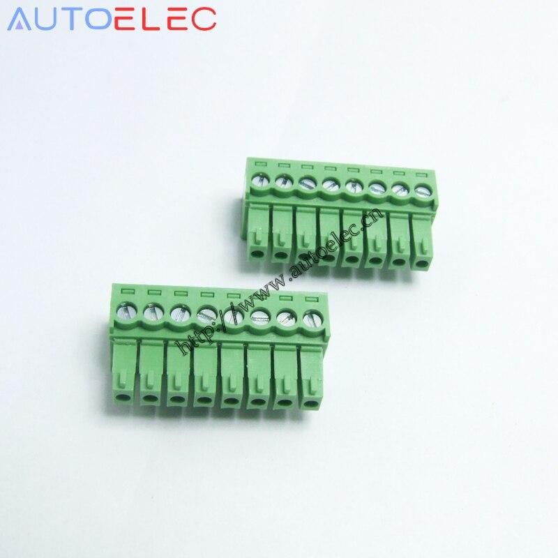 100 unids/lote 3,5mm de Paso 8P pcb bloques de terminales KF2EDGK PCB Conector enchufable hembra MC1.5/8-ST-3.5 1840421