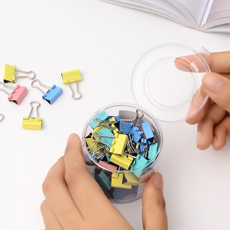 60 pcs/lot Mini Metal Paper Clips 15mm Colorful Candy Color Clip for Book Stationery School Office Supplies High Quality