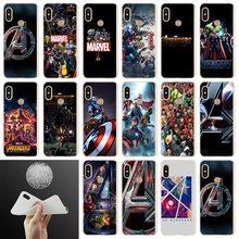 Etui Soft Cover Phone Case For Xiaomi Redmi Note 8 7 6 5 Pro redmi 7 8 A 6pro 6a s2 5a 4a 4x y3 5plus 7A The Marvel Avengers