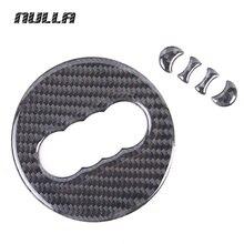NULLA For Audi A1 A3 A4 A5 A6 A7 A8 Q3 Q5 Q7 3D Carbon Fiber Steering Wheel Sticker 2016 Soft Design Car Styling Emblem