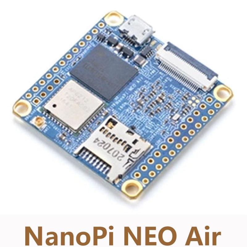 NanoPi NEO aire a bordo Bluetooth Wifi Allwinner H3 Placa de desarrollo IoT Quad-core Cortex-A7 8G eMMC Super Raspberry Pi NP002