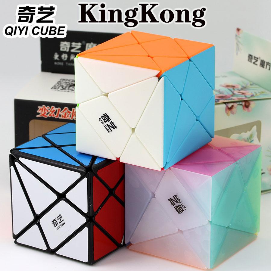 Cubo mágico rompecabezas QiYi 3x3x3 cubo con ejes KingKong JinGang cubo profesional de supervelocidad cubo educativo twist wisdom juguetes regalo z