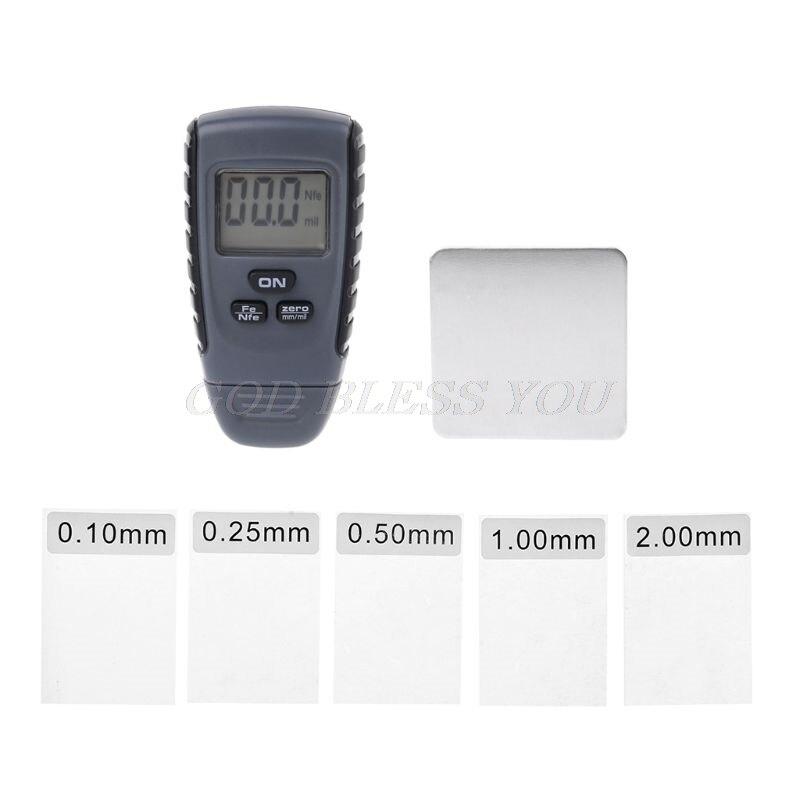 RM660 Paint Coating Thickness Gauge Digital Tester Meter Instrument Iron Aluminum Base Metal Car Automotive Non-Metal 0-1.25 mm