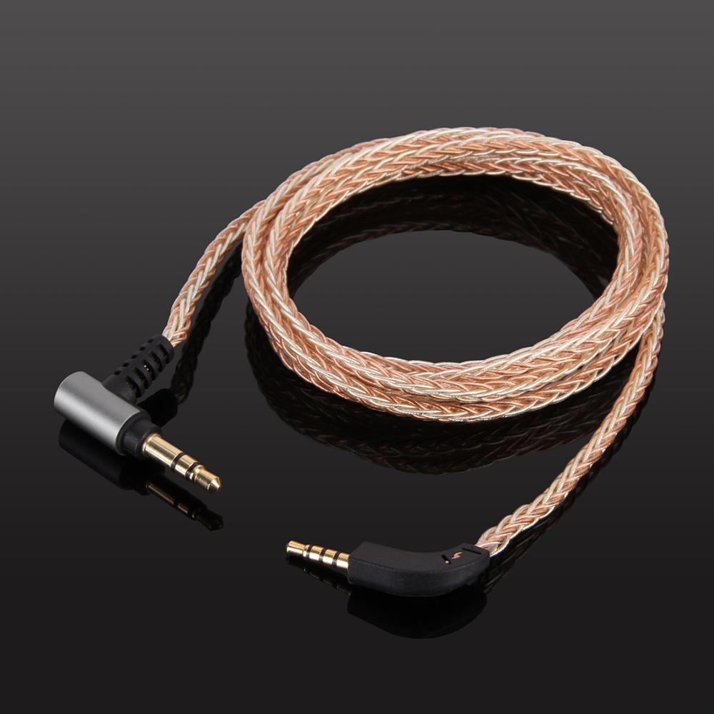 كابل صوت مضفر 8-core OCC مطلي بالفضة لسماعات الرأس اللاسلكية B & W boers و Wilkins P7/P7