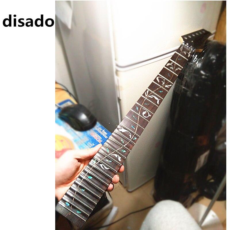 Disado 24 Bünde großhandel maple E-gitarre Hals palisander griffbrett inlay baum von lifes Gitarre zubehör teile