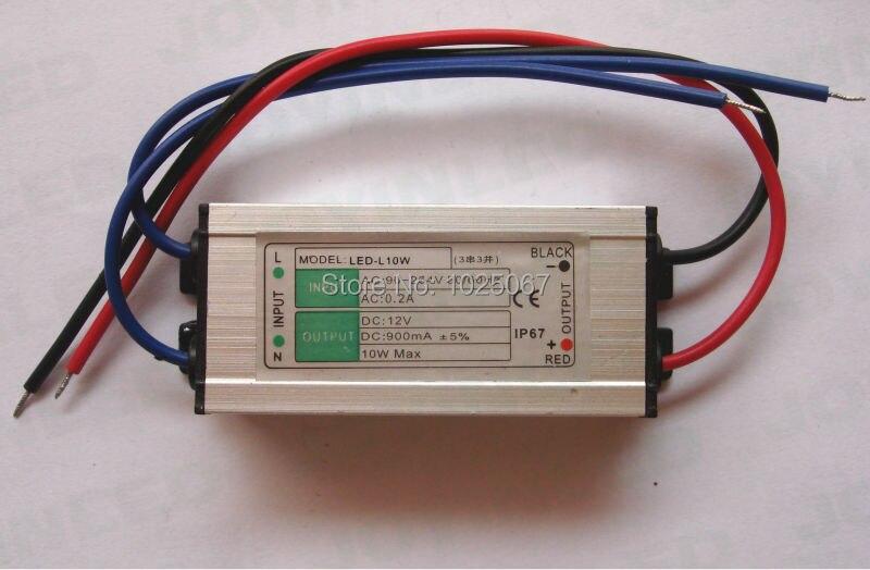 Controlador de luz led orferta de fábrica Serie 3 de corriente constante paralela 900MA impermeable 6-12V DC fuente de alimentación 10W