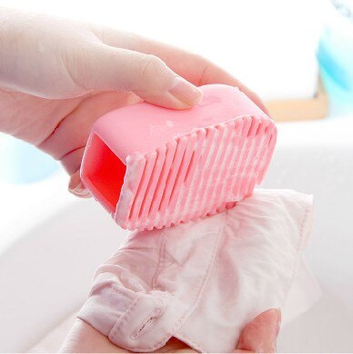 Мини силиконовая доска для ручной стирки щетка мытья воротника и манжеты