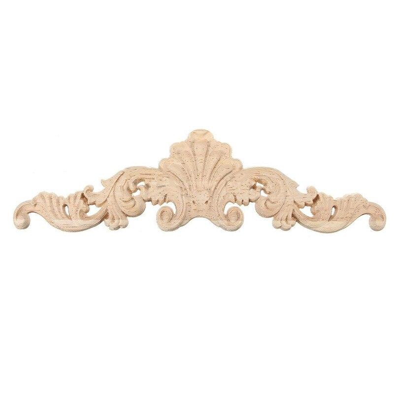 Деревянный резной угловой декор, рама, декор, мебель, ремесло, неокрашенный Тип: 20*5 см