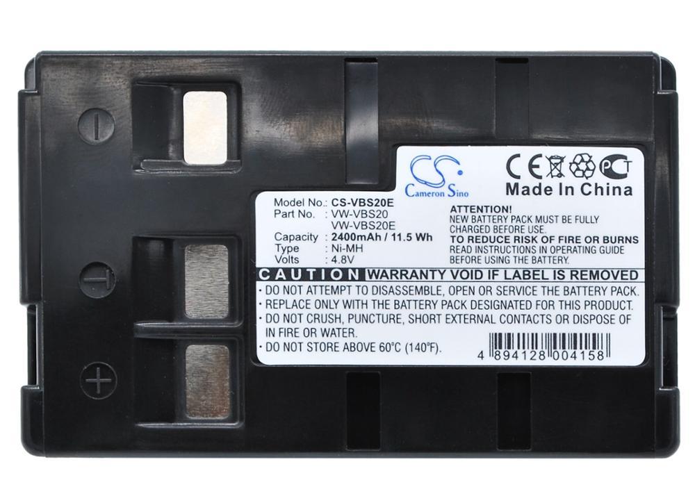 Фото - Cameron Sino 2400mAh Battery For Panasonic NV-A1 NV-A1EN NV-ALEN NV-CSLEN NV-R00PN NV-R100EN NV-R11A NV-R200 NV-R500EN NV-R500EW nv