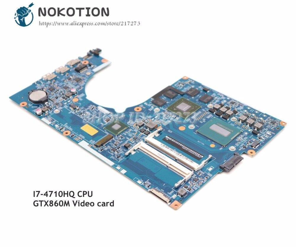 NOKOTION para Acer aspire VN7-791 placa base de computadora portátil 448.02G08.001M NBMQR11004 Tablero Principal I7-4710HQ CPU GTX860M tarjeta de Video