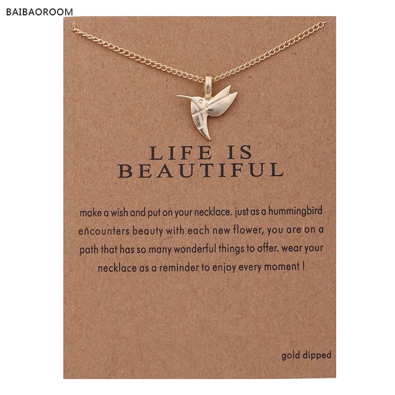 12 pçs moda jóias nova gold-color vida é belo pássaro clavícula curto gargantilha colar para mulher