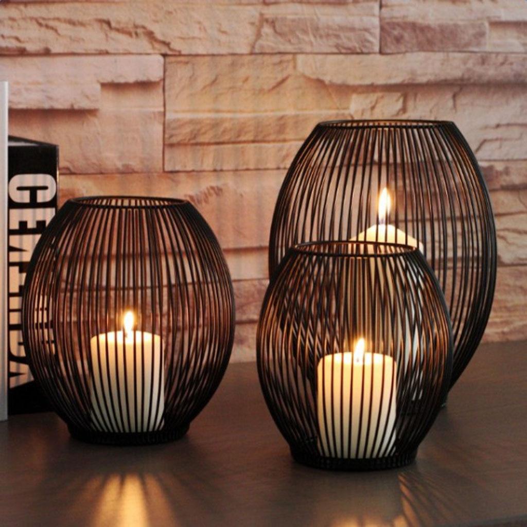 Fio de ferro tealight votive vela led suporte de vela copo 6 polegada