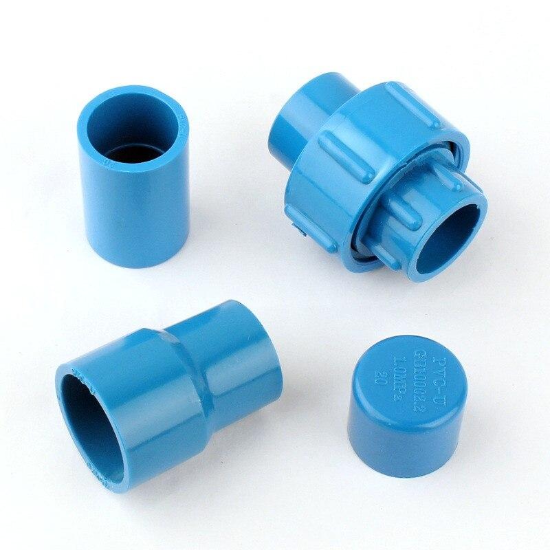 Diámetro interior. Tapones de unión de tubería de PVC de 20mm, acoplamiento equivalente a 20x25mm, adaptador de junta recta de tubo de agua para jardín