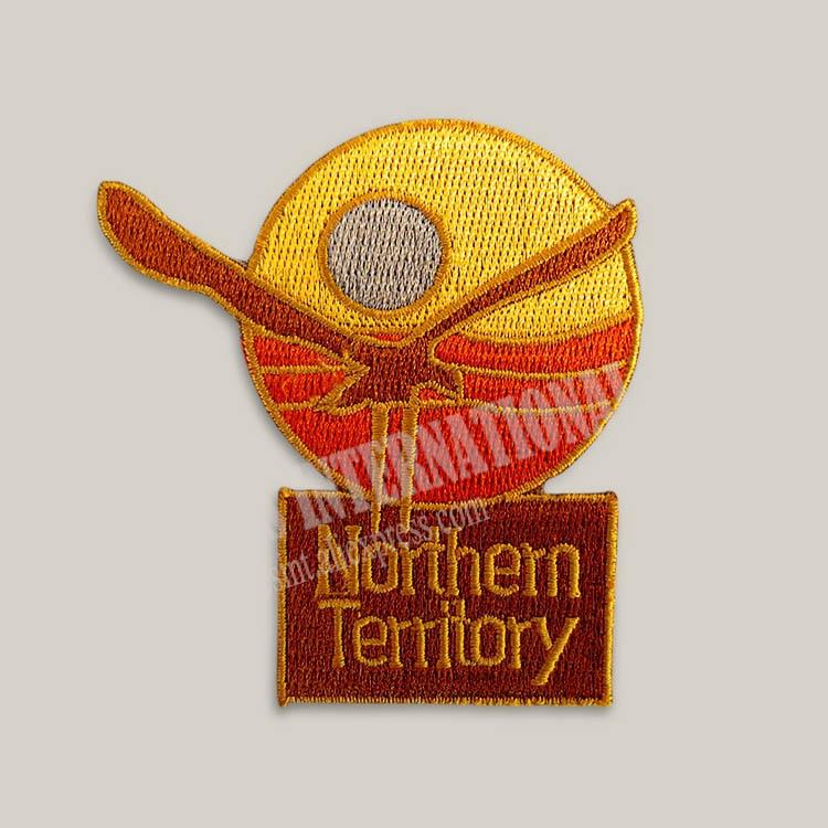 Parches bordados para chaqueta chaleco trasero motociclista Australia norte territorio 7*7,3 cm