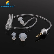 Auriculares universales de 3,5mm para el oído, antiradiación, tubo de aire, monoauriculares estéreo, cancelación de ruido para teléfonos inteligentes 2/5/10