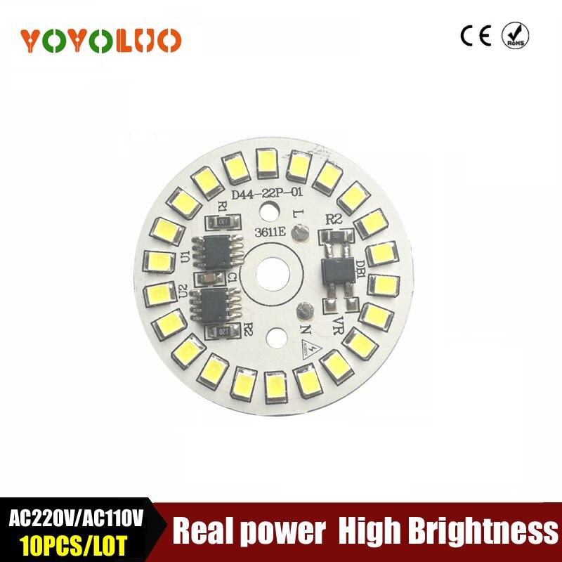 SMD2835 LED Lampe Chip licht AC110V Smart IC Power DIY AC220V 5W 7W 9W 12W 15W Led lampen Für innen Flutlicht Weiß/Warmweiß