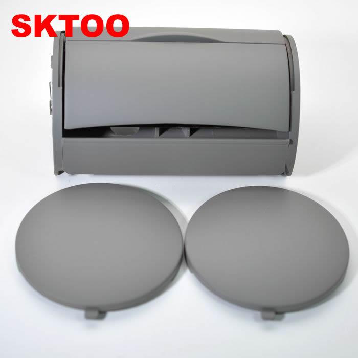 SKTOO Grey trasero Papelera con Cenicero lado + tapas para VW BORA JETTA GOLF 4 MK4 1J0 857, 962 H