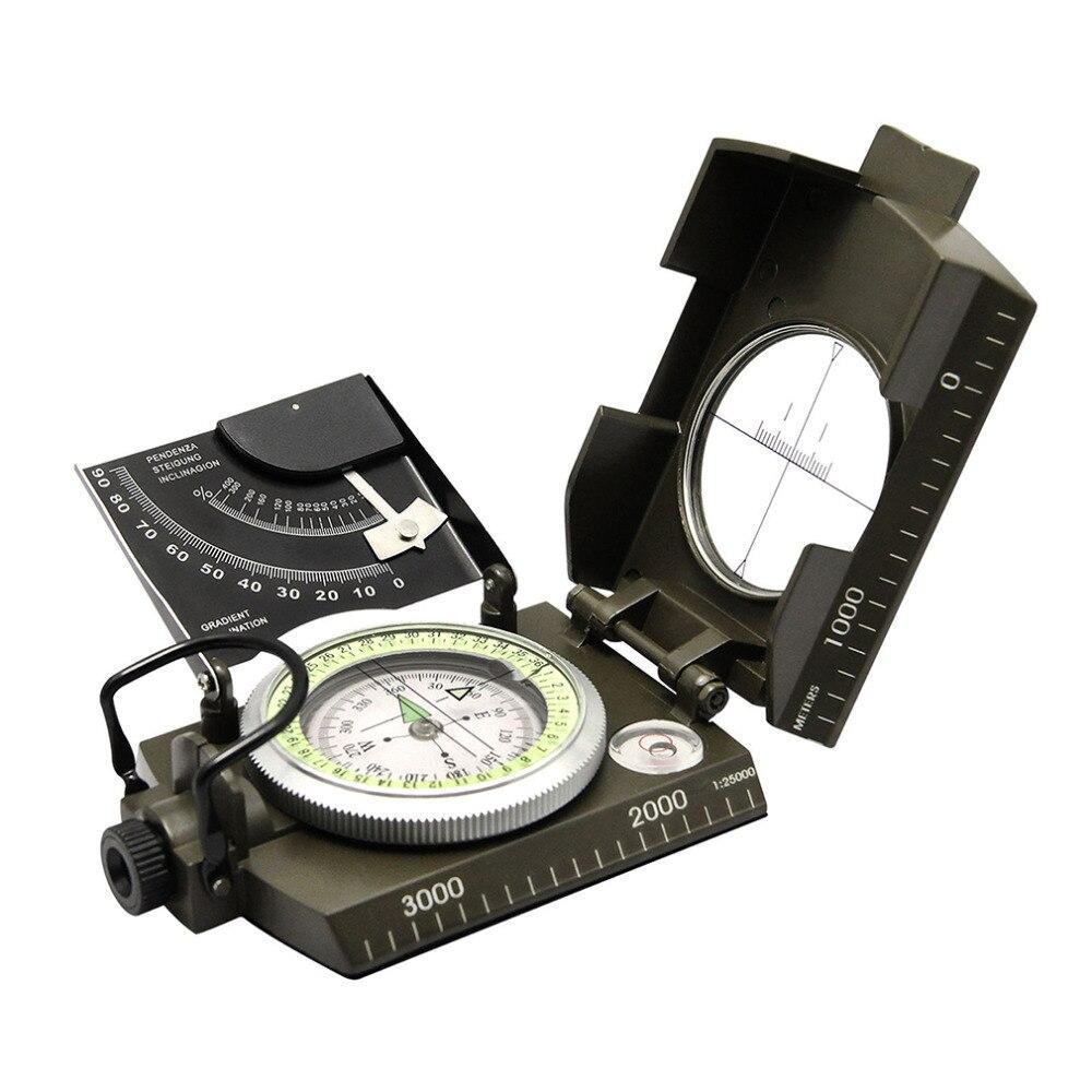 Militar Do Exército geologia Compass para Profissional Avistamento Compass para Caminhadas Ao Ar Livre de Acampamento Ao Ar Livre Bússola Luminosa