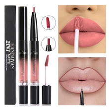 14 farbe Flüssigkeit Lippenstift Matte Rot Lippen Make-Up Lang Anhaltende Wasserdichte Matt Lip Stick Nude Rosa Lippen Liner Bleistift Glanz make-up