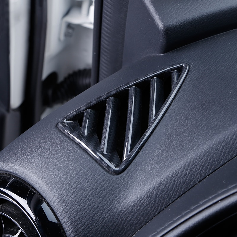 Para Mazda CX-3 CX3 2016 2017 2018 ABS aire acondicionado AC ventilaciones moldura de cubierta de Marco tablero salida Red 2 uds