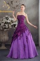 bealegantom 2019 lace appliques purple ball gown quinceanera dresses beaded sweet 16 dresses vestidos de 15 anos qa1050