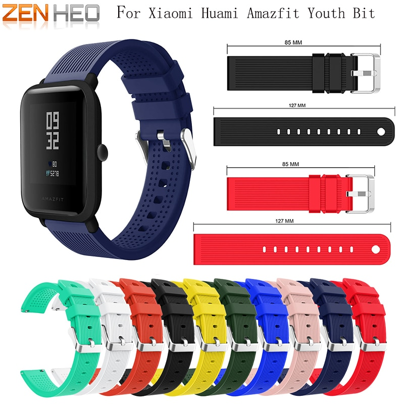 Strap Replace Watch Straps for Amazfit Youth Silicone Straps for Xiaomi Huami Bip BIT PACE Lite Youth Smart Watch Wrist Bracelet sports silicone wrist strap bands for xiaomi huami amazfit bip bit pace lite youth smart watch replacement band