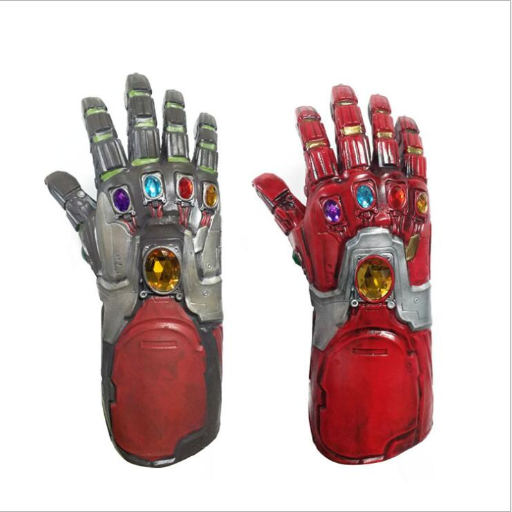 Hombre de Hierro guantelete del infinito Cosplay Thanos guante de látex guantelete del infinito fiesta vengadores 4 final