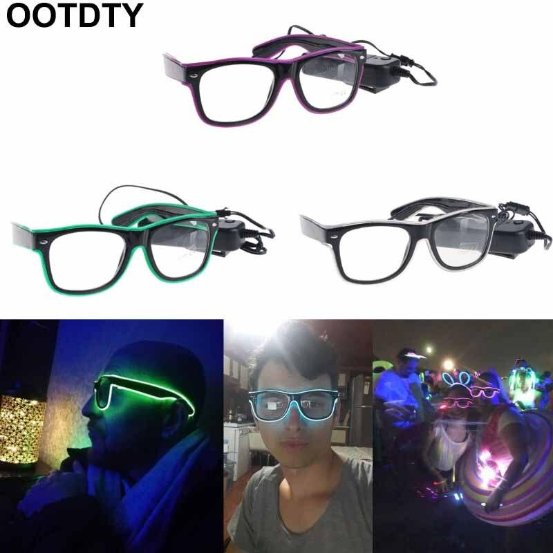 Gafas de alambre EL, gafas luminosas brillantes, gafas de sol LED luminosas, gafas de fiesta de juguete para niños, fiesta, Club, escenario, discoteca