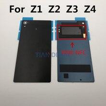 1 шт. Задняя стеклянная крышка батареи для Sony Xperia Z4 Z3 + Z3 Plus E6553 E6533 Z2 Z3 Z1 батарея задняя дверь чехол Корпус с NFC
