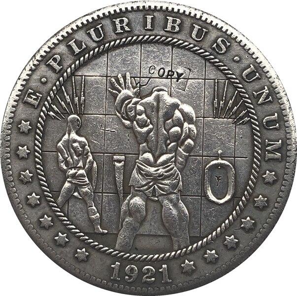 Hobo níquel 1921-D dólar Morgan de EUA copia de moneda tipo 124