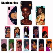Babaite noir fille magique mélanine Poppin Coque Coque de téléphone pour iPhone8 7 6 6S Plus X XS XR XSMax 5 5s SE 5c11 11pro 11promax