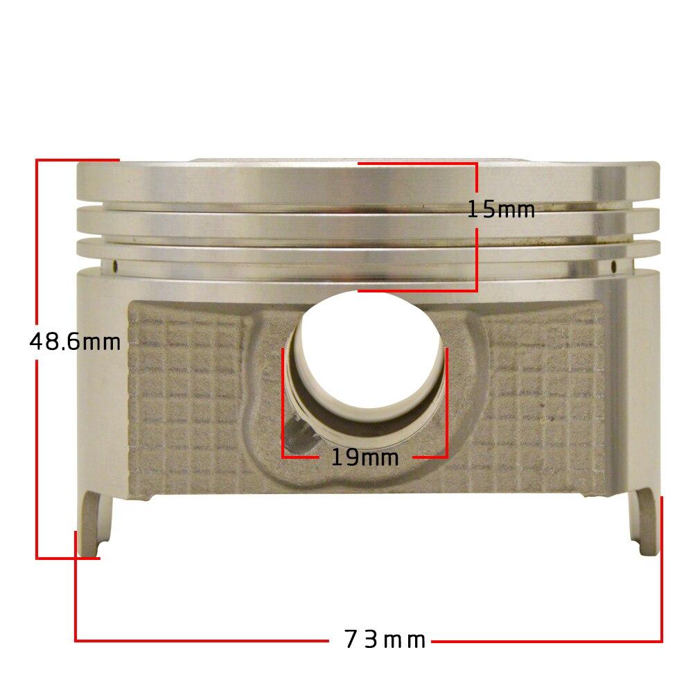 Pin Dia 19mm Montagem Acessórios Da Motocicleta peças de Motor STD 74 73 milímetros 73.25 milímetros 73.5 milímetros 73.75 milímetros mm kit de pistões & anéis Para AN250
