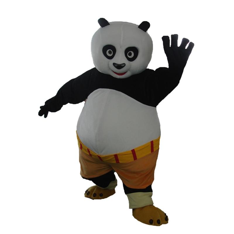 Tamaño adulto Kung Fu disfraz de mascota panda Kung Fu panda