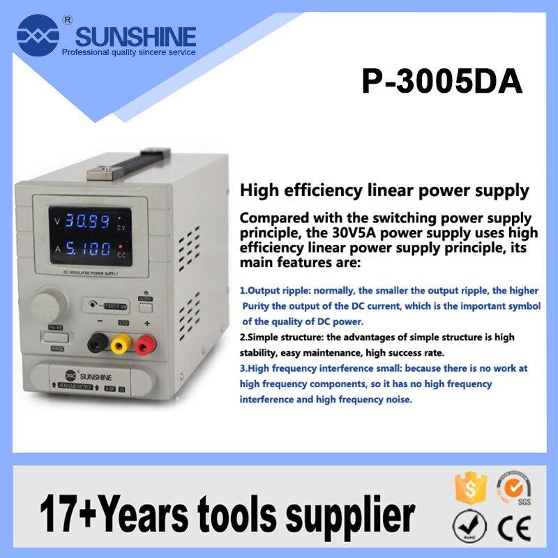 أدنى سعر 30v 5a Dc امدادات الطاقة للهاتف المحمول اللوحي دفتر اختبار P-3005DA