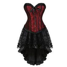 Nouveau corset femme robe de carnaval showgirl deguisement jupon mini jupe déguisement dhalloween taille cincher bustier