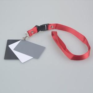 Image 5 - Цифровая камера 3 в 1 карманный размер белый черный серый баланс карты 18 процентов серая карта с шейным ремешком для цифровой фотографии