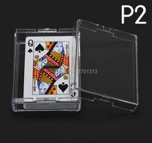 Naipes transparentes de poliestireno caja de plástico PS caja de almacenamiento de póquer material de embalaje P2