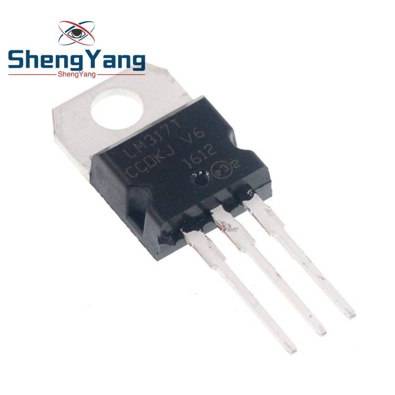 10 pçs/lote LM317 LM317T PARA-220 chip de três-terminal regulador ajustável autêntico e original