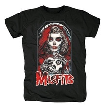 20 designs Vintage Misfits Rock marque hommes femmes chemise Punk crâne os Hardrock heavy Metal 100% coton skateboard camiseta tee