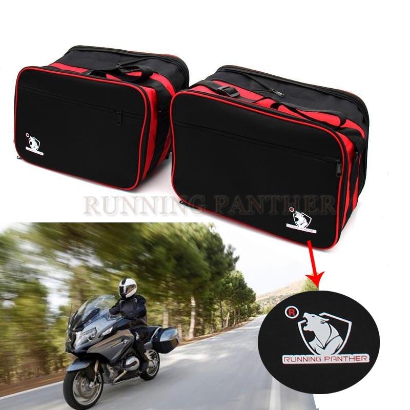 حقيبة أمتعة سوداء قابلة للتوسيع للدراجات النارية ، لسيارات BMW R1200RT K1200GT R1200R K1300GT