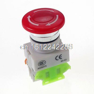 Interruptor do botão do cogumelo da parada de emergência do cnc de 10 pces