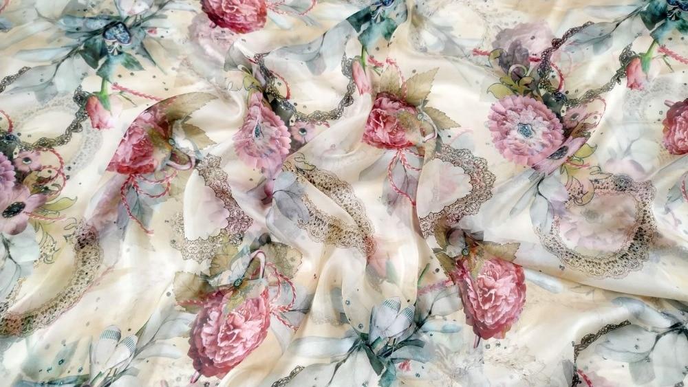 Tela de seda gasa ankara metro de tela textil Ropa Decoración de ropa bufanda tessuti 8 moomin tissu africain tissus enfant