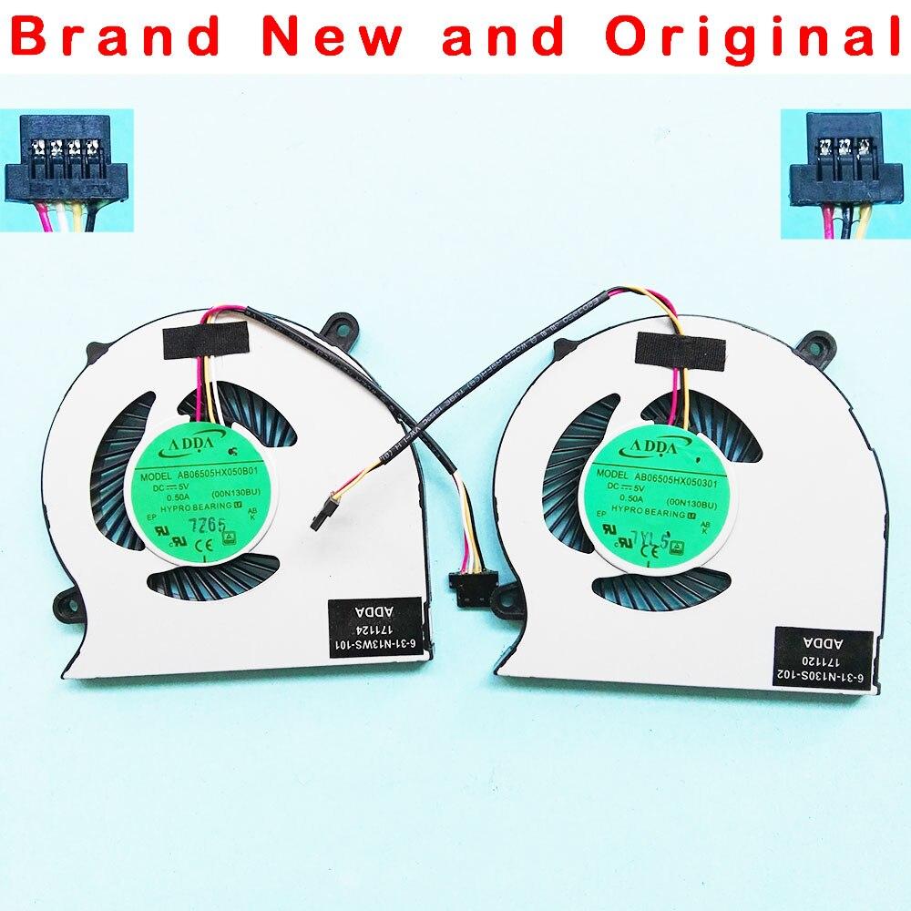 Ventilador de refrigeración original para cpu ADDA AB06505HX050B01 00N130BU 6-31-N13WS-101 6-31-N130S-102, ventilador de enfriamiento para CPU