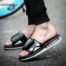 ¡Novedad de 2018! Sandalias Air Cushion 100%, sandalias originales de marca para hombre, sandalias de moda para hombre, sandalias deportivas para exteriores, zapatillas planas para hombre